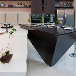 black silestone countertops