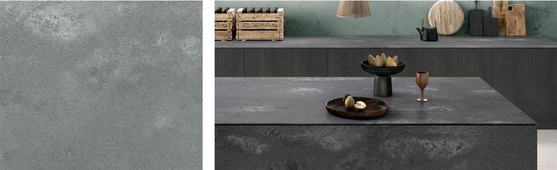 rugged concrete countertop