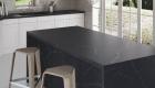 black silestone countertops