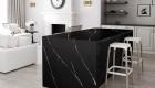black kitchen surface