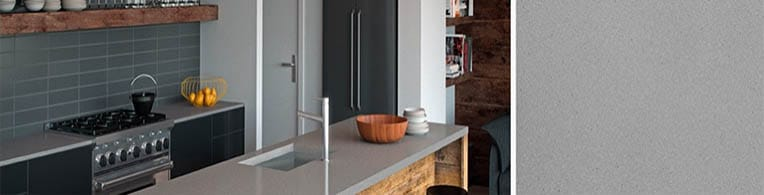 sleek concrete quartz worktops
