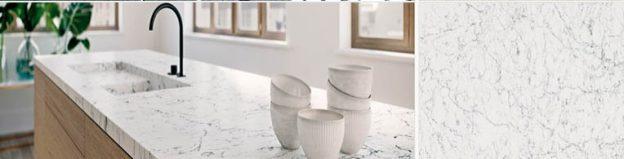 white attica kitchen quartz worktops