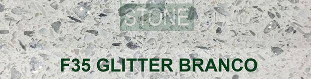 Glitter branco quartz worktops london