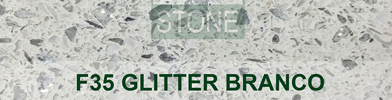 Glitter branco quartz worktops london