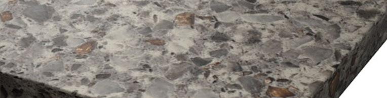 Grey corner quartz sample