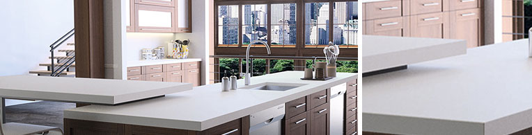 White Quartz Kitchen Worktops In London