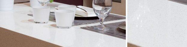 Snowcompac quartz worktops for kitchen